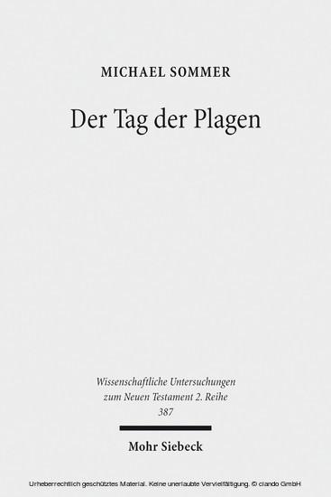 Der Tag der Plagen - Blick ins Buch