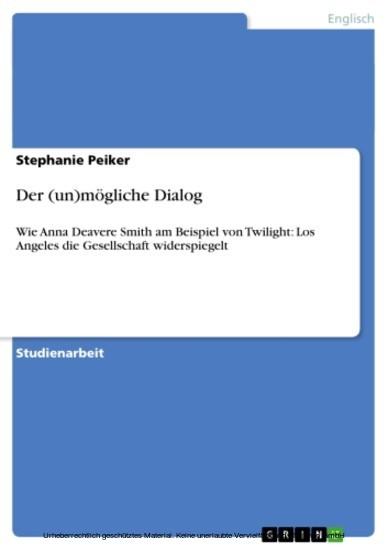 Der (un)mögliche Dialog - Blick ins Buch