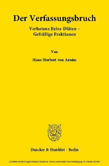 Der Verfassungsbruch - Blick ins Buch