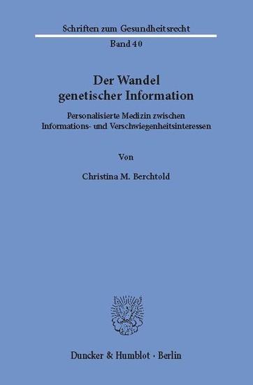 Der Wandel genetischer Information. - Blick ins Buch