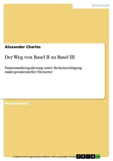 Der Weg von Basel II zu Basel III - Blick ins Buch
