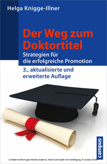 Der Weg zum Doktortitel - Blick ins Buch