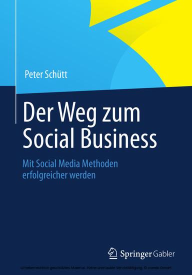 Der Weg zum Social Business - Blick ins Buch