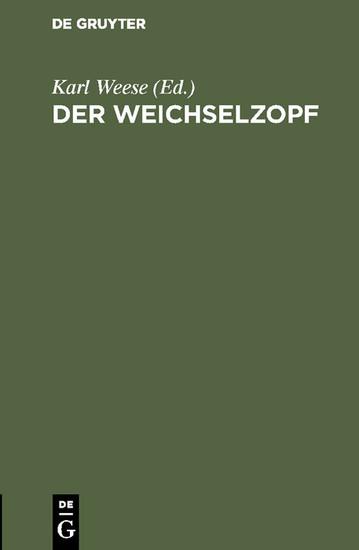 Der Weichselzopf - Blick ins Buch