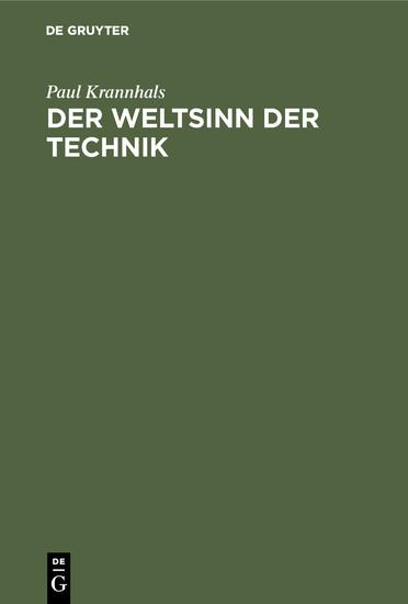 Der Weltsinn der Technik - Blick ins Buch