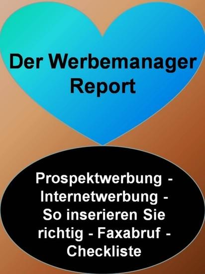 Der Werbemanager Report - Blick ins Buch