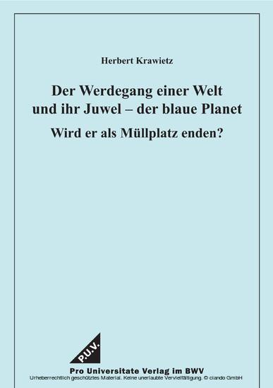 Der Werdegang einer Welt und ihr Juwel - der blaue Planet - Blick ins Buch