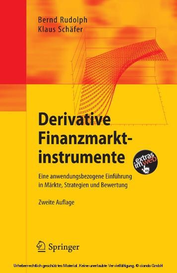 Derivative Finanzmarktinstrumente - Blick ins Buch