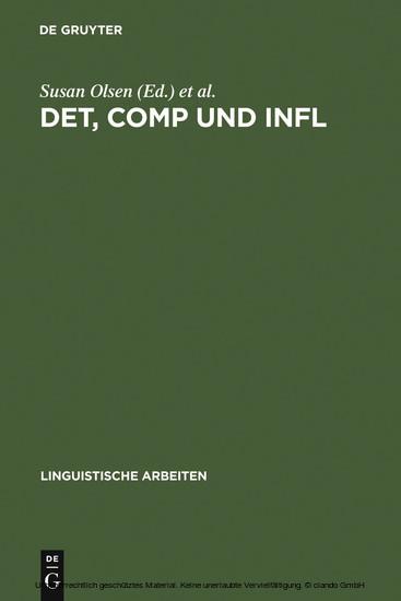 DET, COMP und INFL - Blick ins Buch