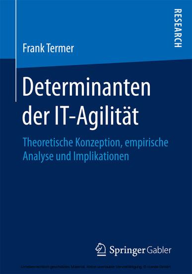 Determinanten der IT-Agilität - Blick ins Buch