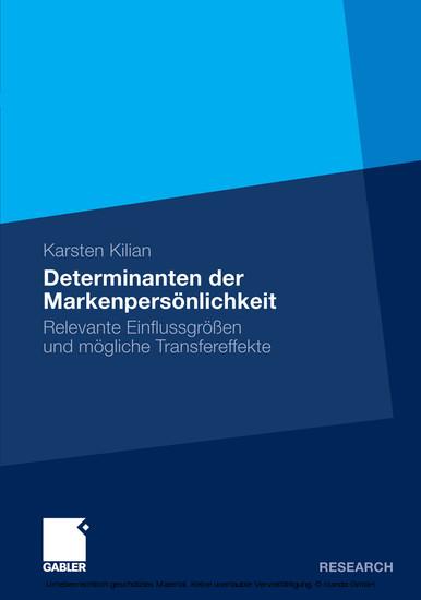 Determinanten der Markenpersönlichkeit - Blick ins Buch