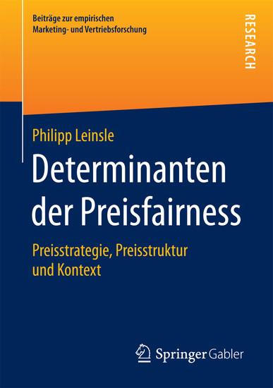 Determinanten der Preisfairness - Blick ins Buch