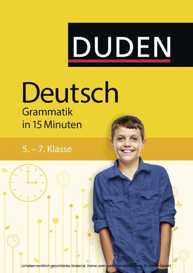 Deutsch in 15 Minuten - Grammatik 5.-7. Klasse - Blick ins Buch