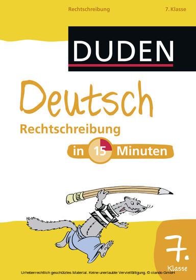 Deutsch in 15 Minuten - Rechtschreibung 7. Klasse - Blick ins Buch