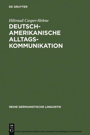 Deutsch-amerikanische Alltagskommunikation - Blick ins Buch