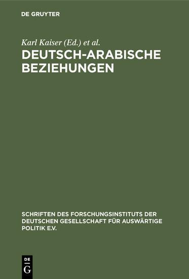 Deutsch-arabische Beziehungen - Blick ins Buch