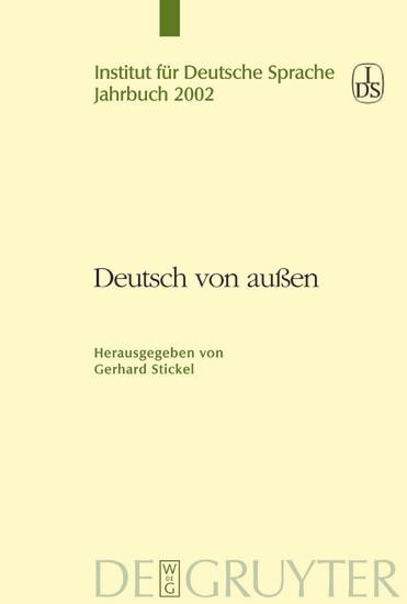 Deutsch von außen - Blick ins Buch