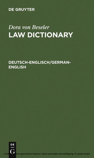 Deutsch-Englisch/German-English - Blick ins Buch
