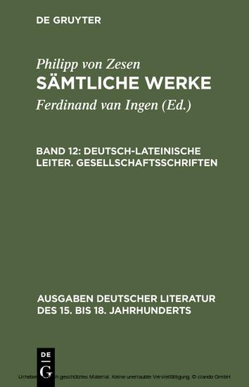 Deutsch-lateinische Leiter. Gesellschaftsschriften - Blick ins Buch