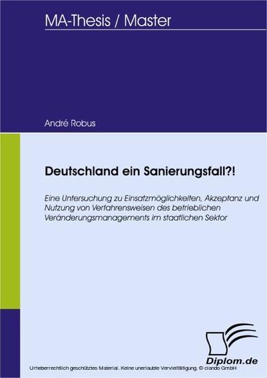 Deutschland ein Sanierungsfall?! - Blick ins Buch