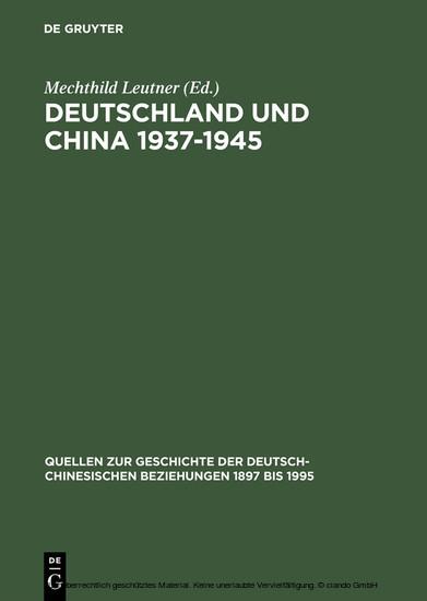 Deutschland und China 1937-1945 - Blick ins Buch