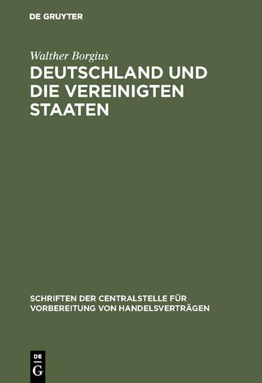 Deutschland und die Vereinigten Staaten - Blick ins Buch