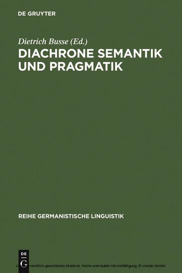 Diachrone Semantik und Pragmatik - Blick ins Buch