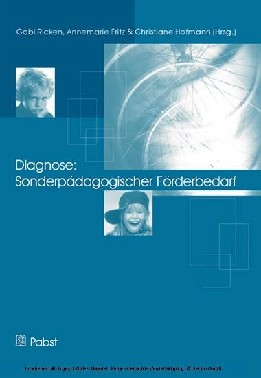 Diagnose: Sonderpädagogischer Förderbedarf - Blick ins Buch