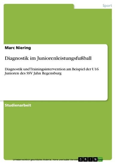 Diagnostik im Juniorenleistungsfußball - Blick ins Buch
