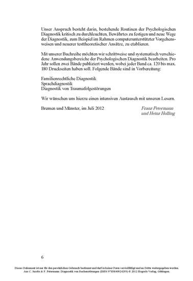 Diagnostik von Rechenstörungen - Blick ins Buch