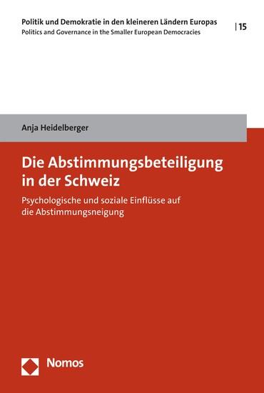 Die Abstimmungsbeteiligung in der Schweiz - Blick ins Buch