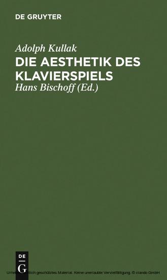 Die Aesthetik des Klavierspiels - Blick ins Buch