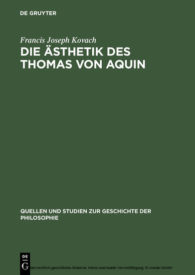 Die Ästhetik des Thomas von Aquin - Blick ins Buch