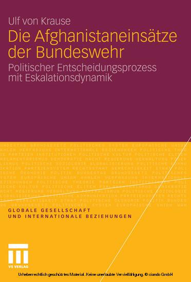 Die Afghanistaneinsätze der Bundeswehr - Blick ins Buch