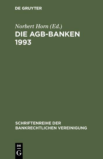 Die AGB-Banken 1993 - Blick ins Buch