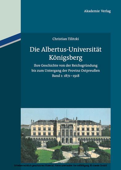 Die Albertus-Universität Königsberg - Blick ins Buch
