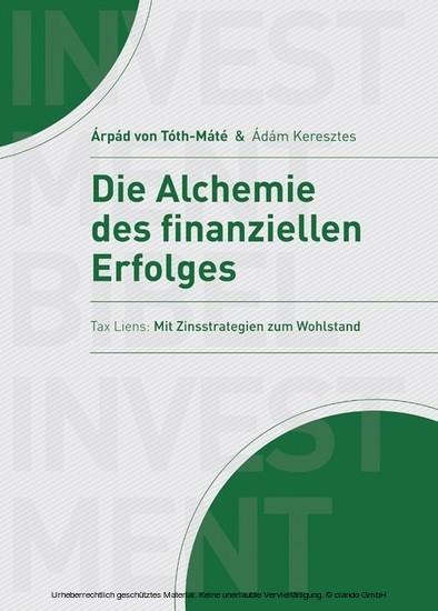 Die Alchemie des finanziellen Erfolgs - Blick ins Buch