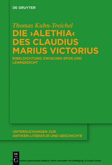 Die 'Alethia' des Claudius Marius Victorius - Blick ins Buch