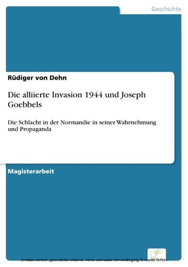 Die alliierte Invasion 1944 und Joseph Goebbels - Blick ins Buch
