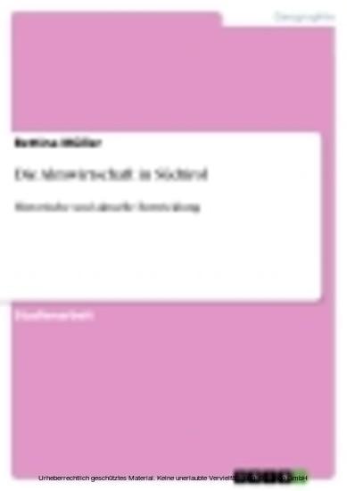 Die Almwirtschaft in Südtirol - Blick ins Buch