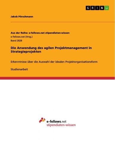 Die Anwendung des agilen Projektmanagement in Strategieprojekten - Blick ins Buch
