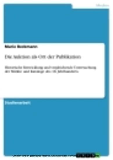 Die Auktion als Ort der Publikation - Blick ins Buch