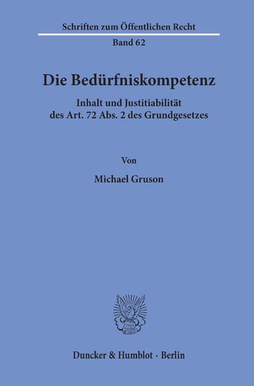 Die Bedürfniskompetenz. - Blick ins Buch