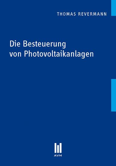 Die Besteuerung von Photovoltaikanlagen - Blick ins Buch