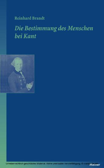 Die Bestimmung des Menschen bei Kant - Blick ins Buch