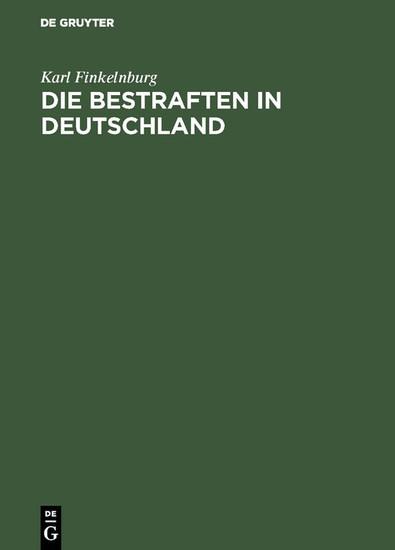 Die Bestraften in Deutschland - Blick ins Buch