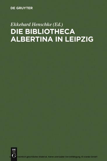 Die Bibliotheca Albertina in Leipzig - Blick ins Buch