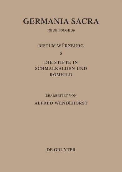 Die Bistümer der Kirchenprovinz Mainz: Das Bistum Würzburg 5: Die Stifte in Schmalkalden und Römhild - Blick ins Buch
