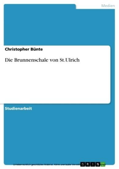 Die Brunnenschale von St.Ulrich - Blick ins Buch