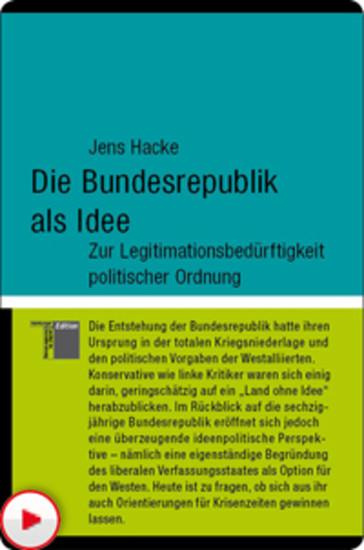 Die Bundesrepublik als Idee - Blick ins Buch